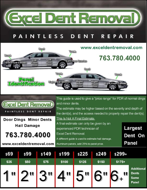 paintless dent repair estimate guide excel dent removal rh exceldent wordpress com auto repair cost guidelines auto repair cost guidelines