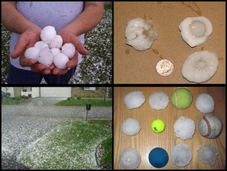 Hail in Anoka County and Elk River
