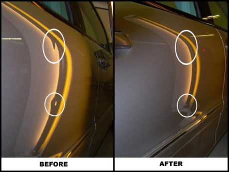 Mercedes Door Dents/ Paintless Dent Repair